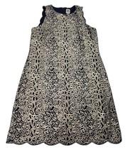 Anne Klein Women's Navy Metallic Gold Shimmery Sheath Dress Size 12 Line... - $67.58