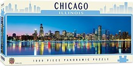MasterPieces Cityscapes Panoramic Jigsaw Puzzle, Downtown Chicago, Illinois, Pho - $19.99