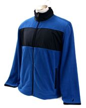 Nautica Blue & Black Zip Front Fleece Jacket Men's NWT image 4