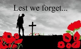 LEST WE FORGET FLAG 5 x 3 - $8.24