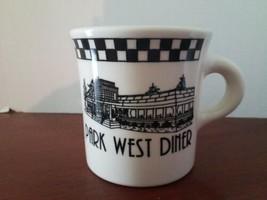 Homer Laughlin China PARK WEST DINER 8oz. Coffee Mug Tea Cup Checkered - $10.88