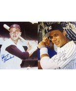 JOHNNY BLANCHARD & JIM LEYRITZ AUTOGRAPHED N.Y. YANKEES 8x10 PHOTOS w/CO... - £12.19 GBP