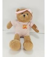 Its A Girl Musical Brown Bear White Pink Plush Stuffed Light up Hush Lit... - $17.81