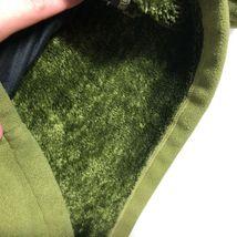 WoolRich Pile Fleece Jacket 1/2 Zip Men's M Green Long Sleeve Faux Fur Lined image 3