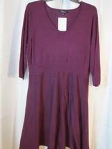 NWOT Spense Maroon Sweater Dress Sz 1X Org $89.00 - $33.24