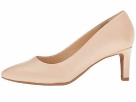 Clarks CALLA ROSE Cream Women's Leather Closed Toe Pump 31856 - $76.90