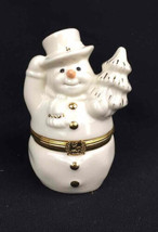 Lenox Treasures The Snowman's Surprise Box 1st Issue Holiday Hinged Trin... - $17.54