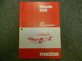 1987 Mazda 626 Electrical Wiring Diagram Service Repair Manual FACTORY O... - $44.51