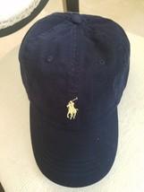 POLO RALPH LAUREN MEN'S NAVY BLUE BALL CAP HAT YELLOW LOGO ADJUST OSFA $... - $26.99