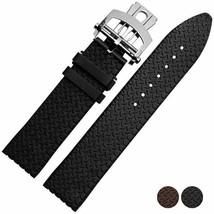 Bracelet Fit Chopard Mille Miglia Black Rubber watchband Sports Watch St... - $37.39