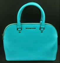 Michael Kors Handbag Turquoise Purse Aqua Zipper Close Interior Pockets OP-1501 - $72.75