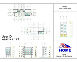 Custom Modern House Plans 9 Bedroom And 8 Bathroom With Original CAD And... - $19.79