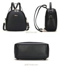 Black Leather Women Backpacks Fashion Girl's Bookbags Schoolbag YG717-2 - $36.99
