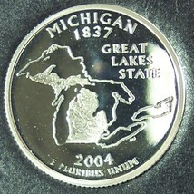 2004-S Silver Proof Michigan State Quarter PF65DC #940 - $6.39