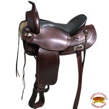 "15"" Hilason Western American Leather Draft Horse Saddle Trail Pleasure U... - $489.99"