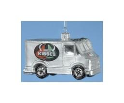 "Kurt Adler 3.5"" Chocolate Shop Hershey's Kisses Truck Christmas Ornament - $16.57"
