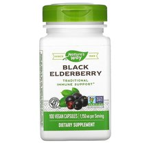 Nature's Way Immune Support Black Elderberry, 575 mg, 100 Vegan Capsules - $21.99