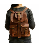 Women Vintage Bags Brown High Quality Leather Embossing Small Backpack - $51.72+