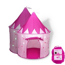 Princess Castle Play Tent Foldable Pop Up Pink Play TentHouse Toy Indoor... - $37.13