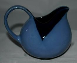 Sango Nova Blue Creamer 2 tone Stoneware Made in China Numbered pottery - $11.87