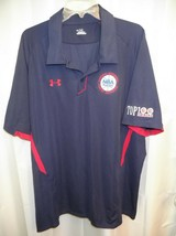 Genuine Under Armour NBA Players Top 100 Camp Stitched Navy (XXL) SS Pol... - $51.73
