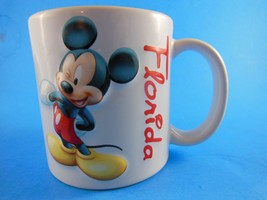 Mickey Mouse Florida Souvenir Mug Sculptured Dimensional by Dakin  - $9.89