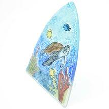 Fused Art Glass Sea Turtle & Fish Nightlight Night Light Handmade Ecuador image 3
