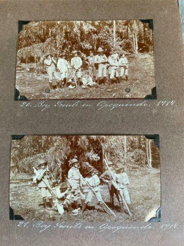 Antique Photo Book Album Boy Scouts 1914 Hotel Bellavista Chile Argentina