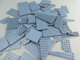 LEGO 50 pc Light Gray Bulk Lot Part Baseplate Parts Specialty Plate Pieces - $24.74