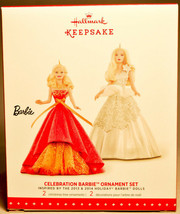 Hallmark: Celebration Barbie - Set of 2 -Inspired by 2013-14 - Keepsake ... - $15.85