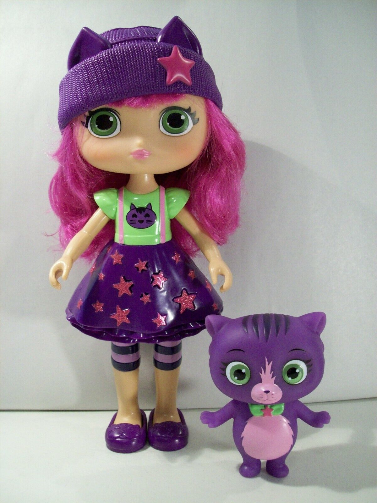 "Primary image for LITTLE CHARMERS MAGICAL HAZEL 11"" TALKING DOLL, SEVEN CAT FIGURE SPIN MASTER"