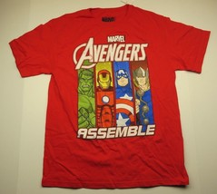 Marvel AVENGERS Assemble Graphic Red Short Sleeve T-Shirt Youth Size X-Large - $24.70