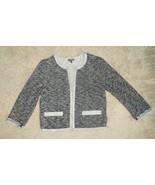 Express Charcoal Gray Rhinestone Pearl Beaded Cardigan Sweater Size Small S - $23.22