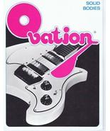 ORIGINAL Vintage 1973 Ovation Solid Bodies Bearwinner Guitar Catalog - $29.69