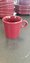 Fiesta Red Ring Handle Coffee Cup Mug Homer Laughlin Made In USA - $2.48