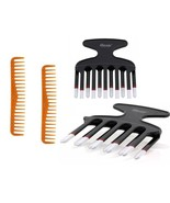2 Pieces 22-Teeth Wide Tooth Comb Detangling Comb Or Double Piks - $1.95+