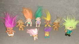 Lot of 9 Troll Dolls - $20.00