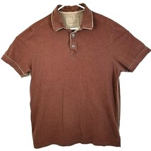 Tommy Bahama Mens Brown Distressed Polo Shirt Large L  - $18.29