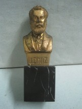 Bronze and marble Statue Figurine bust Portugues writer J Diniz signed B... - $24.20