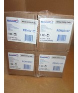 LOT OF 4 BOXES RENOWN WHITE UTILITY PADS REN02107 20ea ~ - $121.54