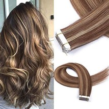 Cute Fairy Tape In Human Hair Extensions Full Cuticle Seamless Straight ... - $28.44