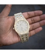 Men's Fully Iced Out Diamond Gold Presidential Watch - $49.99