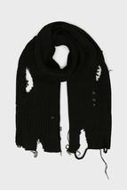 Diesel Unisex K-Dom 00SJ49 Coarse Knitting Scarf Black - $172.26