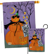 Happy Pumpkin Trio - Impressions Decorative Flags Set S112084-BO - $57.97