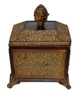 """Versailles"" Resin Pineapple Lid Trinket Box with Scrolling - $9.99"