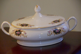 """GOLDEN DUSK OSTROW CHINA COVERED SERVING DISH 11"""" x 3"""" NO CHIPS VINTAGE ... - $49.99"""