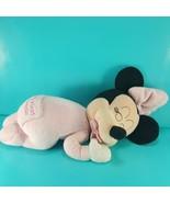 Disney Store Baby Minnie Mouse Sleeping Plush My 1st Minnie Musical Brah... - $24.74