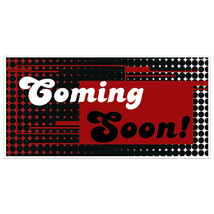 Distorted Colors Coming Soon Business Window Display Retail Large Format Sign - $19.31+