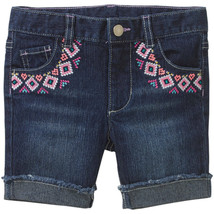 Healthtex Toddler Girl Embroidered Pocket Denim Bermuda Shorts Size 2T NWT - $8.44