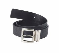 Michael Michael Kors BLACK Logo Reversible Belt, US Medium - £44.19 GBP